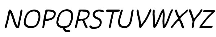 Chirota Italic Font UPPERCASE