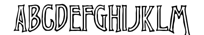 Chiseled Open Font UPPERCASE