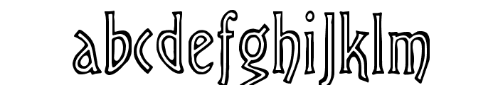 Chiseled Open Font LOWERCASE