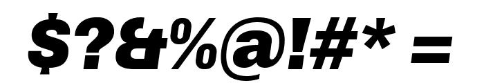 Chivo Black Italic Font OTHER CHARS