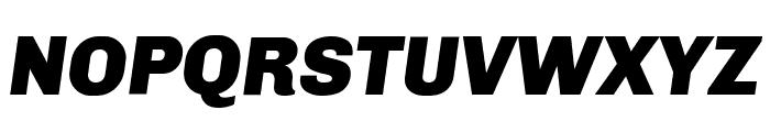 Chivo-BlackItalic Font UPPERCASE