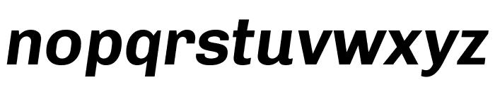 Chivo Bold Italic Font LOWERCASE