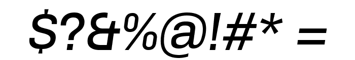 Chivo-Italic Font OTHER CHARS