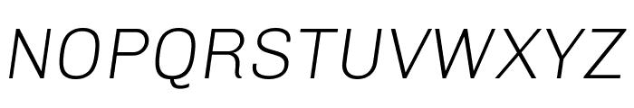 Chivo Light Italic Font UPPERCASE