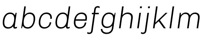 Chivo Light Italic Font LOWERCASE