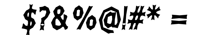 Chizz High Italic Font OTHER CHARS