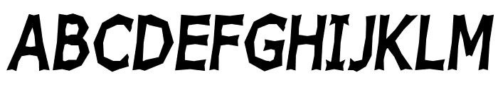 Chizz High Italic Font UPPERCASE