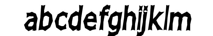 Chizz High Italic Font LOWERCASE