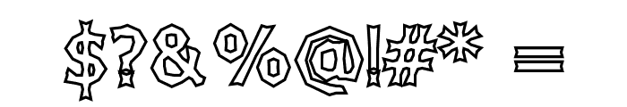 Chizzler Bold Outline Font OTHER CHARS