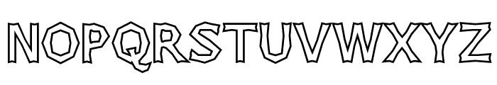 Chizzler Bold Outline Font UPPERCASE
