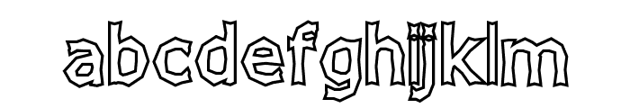 Chizzler Bold Outline Font LOWERCASE
