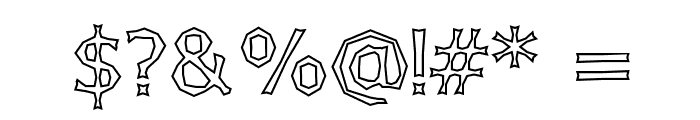 Chizzler Outline Font OTHER CHARS