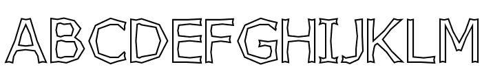 Chizzler Outline Font UPPERCASE