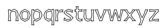 Chizzler Outline Font LOWERCASE