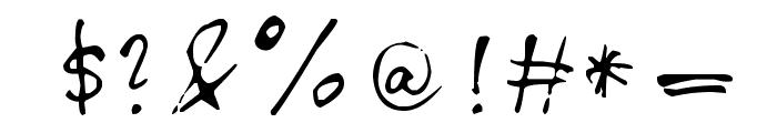 Chloe's handwriting Font OTHER CHARS