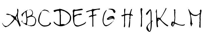 Chloe's handwriting Font UPPERCASE