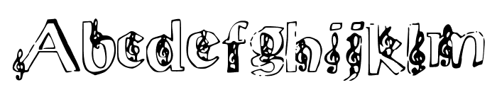 ChloesMusic Font LOWERCASE