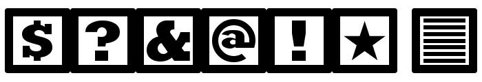 ChockABlockNF Font OTHER CHARS