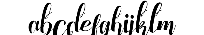 Chocolate Heart Free Font LOWERCASE