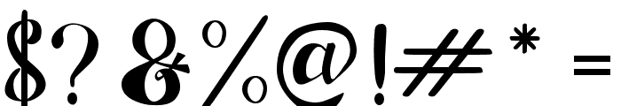 ChocolateHeartFree Font OTHER CHARS