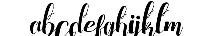 ChocolateHeartFree Font LOWERCASE