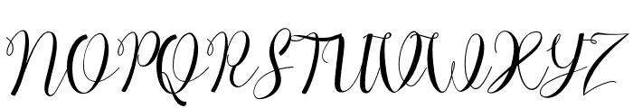 ChocolateMilkyFreePersonal Font UPPERCASE