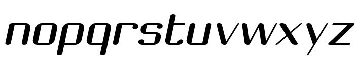 Choktoff Oblique Font LOWERCASE