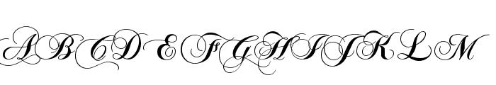 Chopin Script Font UPPERCASE