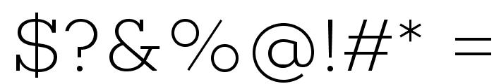 Choplin ExtraLight-DEMO Font OTHER CHARS