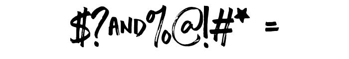 Chopshop Regular Font OTHER CHARS