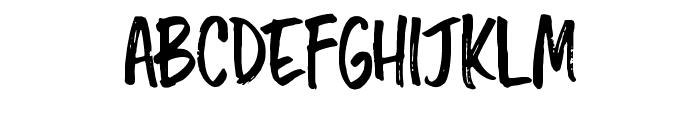 Chopshop Regular Font LOWERCASE