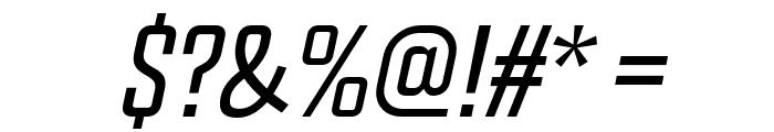 Chosence Light Italic Font OTHER CHARS