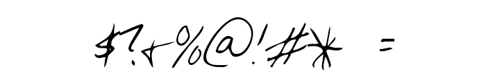 Chris's Handwriting Font OTHER CHARS