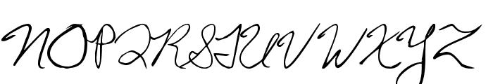 Chris's Handwriting Font UPPERCASE
