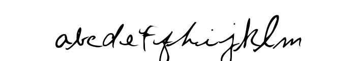 Chris's Handwriting Font LOWERCASE