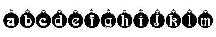 Christbaumkugeln Font LOWERCASE