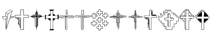 Christian Crosses II Font UPPERCASE