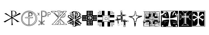 Christian Crosses II Font LOWERCASE