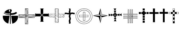 Christian Crosses IV Font UPPERCASE