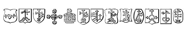 Christian Crosses IV Font LOWERCASE