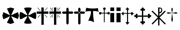 Christian Crosses Font UPPERCASE
