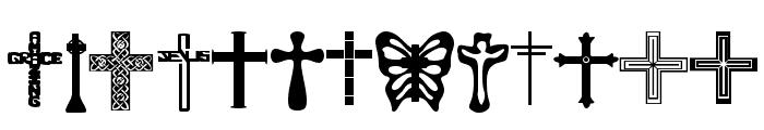 Christian Crosses Font LOWERCASE