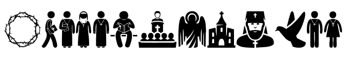 Christian Icons Font LOWERCASE