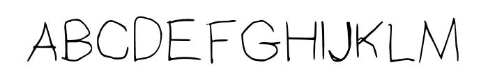 Christina Regular Font UPPERCASE