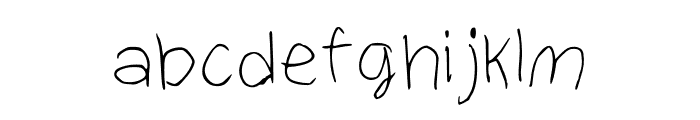 Christina Regular Font LOWERCASE