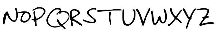 ChristinaHandwriting Font UPPERCASE