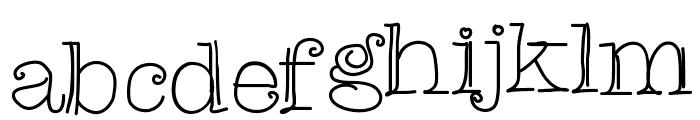ChristinasFont Font LOWERCASE