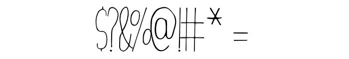 Christmas Decor Font OTHER CHARS