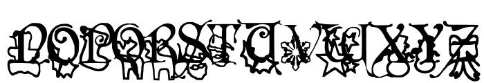 Christmas Fancy Font UPPERCASE