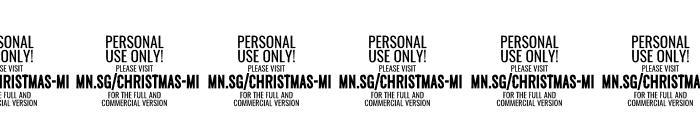 Christmas Miracle PERSONAL USE Font OTHER CHARS